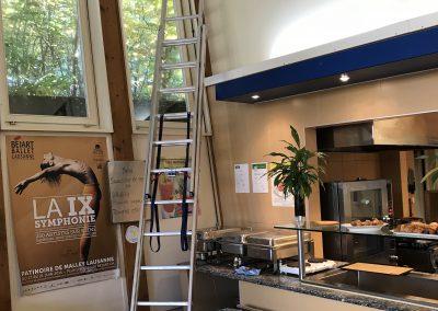 Ballet Béjart révision fermetures de toutes les fenêtres et impostes dont 5 étaient bloquées